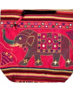 Taška cez rameno s výšivkou slona, 37x36cm