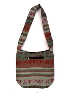 """Taška cez rameno """"Baba bag - Kerala"""" s potlačou mantry, 36x37cm"""