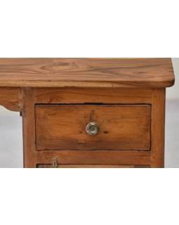 Písací stôl z teakového dreva, 120x59x76cm