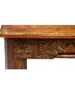 Konzolový stolík / lavica zo starého teakového dreva, 164x48x46cm