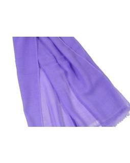 Svetlo fialová pašmína, 100% kašmír, cca 75x220cm