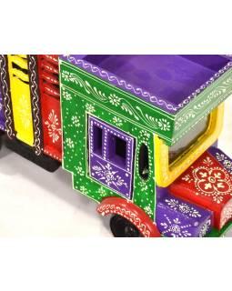 Kamión z Radžastáne, ručne maľovaný, 37x13x21cm