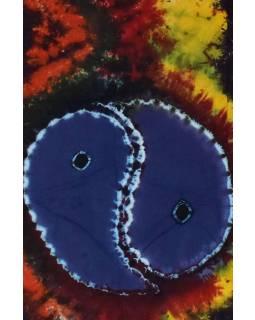 Posteľná prikrývka, Jin-Jang, farebná batika, 220x130cm