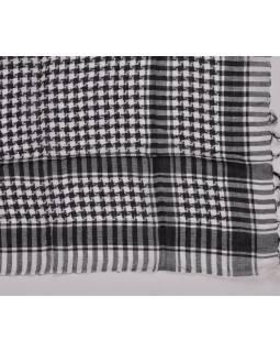 """Šatka """"Palestína"""" (arabský šatku) bielo-čierny, bavlna, 100x100cm"""