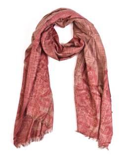 Luxusné šál so vzorom, hnedý, 180x70cm