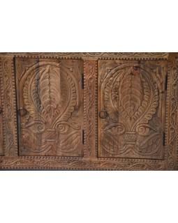 Komoda z mangového dreva, ručne vyrezávaná, 123x40x74cm