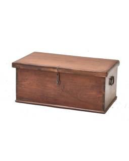 Stará truhla z teakového dreva, 70x41x30cm