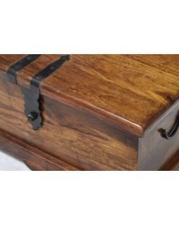 Truhla z palisandrového dreva, 62x30x30cm