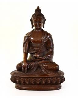 Budha Šákjamúni, kovová soška, 10x7x15cm