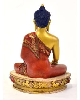 Budha Šákjamúni, živice, pozlacný, ručne vyrezávaný, 27cm