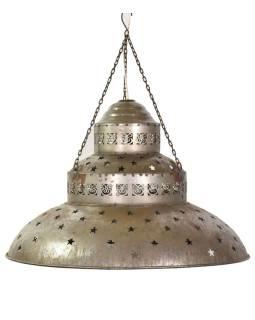 Kovová lampa v orientálnom štýle, hrdza, 61x61x42cm