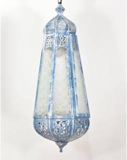 Arabská lampa, biela patina, ručné práce, 26x26x60cm