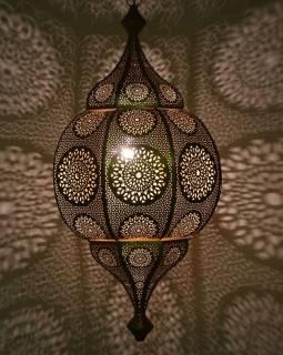 Orientálna lampa s jemným vzorom, zlatá, vnútri zlatá, 30x30x63cm
