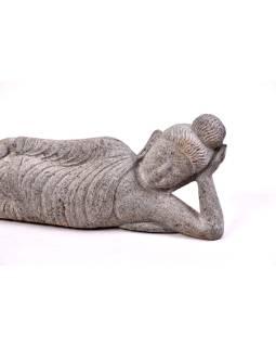 Kamenná socha, ležiaci Budha, žula, 68x8x22cm