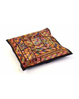 Povlak na vankúš z Rajastan, patchwork, 40x40cm