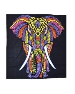 Posteľná prikrývka, Slon, farebný, 230x200cm