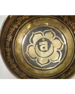 """Tibetská misa, """"GULP"""", gravírovaná s dizajnom, priemer 13cm"""
