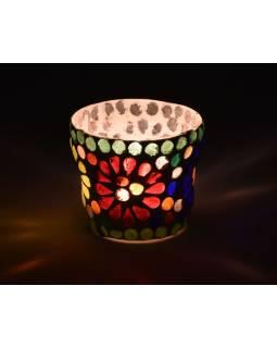 Lampička, skl.mozaika, kónická, priemer 7cm, výška 5,5cm