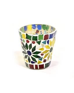 Lampička, skl.mozaika, kónická, priemer 7cm, výška 8cm