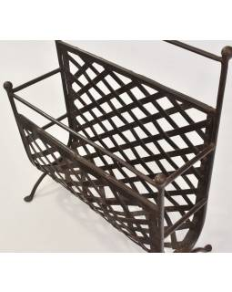 Kovový stojan na noviny, 45x15x51cm