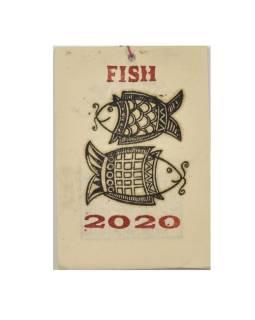 Kalendár na rok 2020 ručne tlačil na ryžovom papieri, 10x15cm
