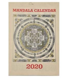 Kalendár na rok 2020 ručne tlačil na ryžový papier, 23x30cm