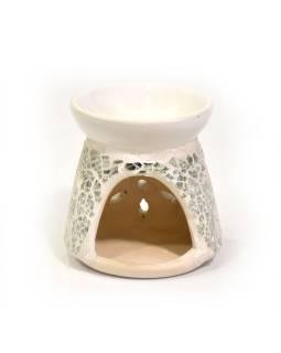 Aromalampa keramická, zdobená sklenenou mozaikou