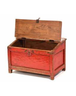 Starý Kupecký stolík z teakového dreva, 60x37x39cm