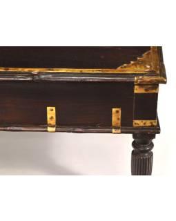Starý Kupecký stolík z teakového dreva, 60x46x35cm