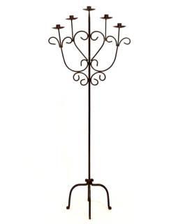 Kovový svietnik, ručne tepaný, 51x31x132cm