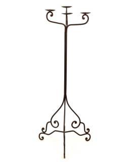 Kovový svietnik, ručne tepaný, 50x50x135cm