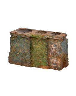 Antik svietnik z mangového dreva, 42x16x25cm
