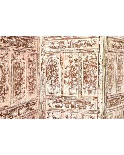 Vyrezávaný paravan z mangového dreva, 200x3x180cm