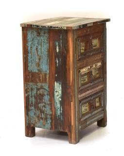 """Stolík / komoda v """"Goa"""" štýle so zásuvkami, 49x40x76cm"""