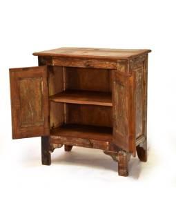 Stará skrinka z teakového dreva, 67x39x75cm
