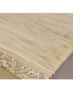 Knižnica z teakového a mangového dreva, 183x45x105cm