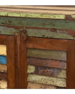 """Skriňa z tekového dreva v """"Goa"""" štýle, 77x47x125cm"""