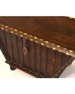 Stará drevená truhla z teakového dreva, 93x54x54, 95x51x55cm