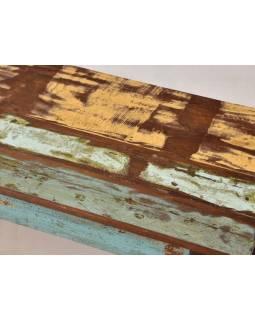 "Lavice z teakového dreva v ""Goa"" štýle, 206x40x46cm"