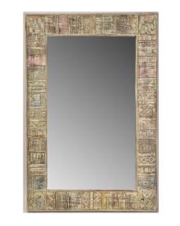 Zrkadlo v ráme z mangového dreva, 138x5x91cm