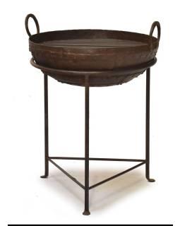 "Kovová misa / ohnisko ""Kada"" s roštom na stojane, 51x51x63cm"