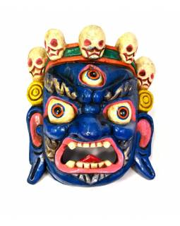 Drevená maska, Bhairab, ručne maľovaný, 23x26cm