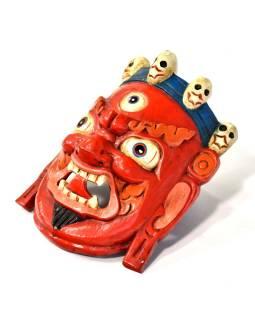 Drevená maska, Bhairab, ručne maľovaný, 21x27cm