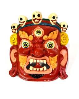 Drevená maska, Bhairab, ručne maľovaný, 23x25cm