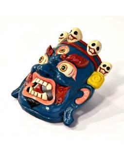 Drevená maska, Bhairab, ručne maľovaný, 22x29cm