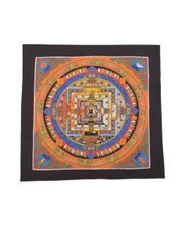 Tanka, maľba na plátne, Kalachakra mandala, 32x32cm