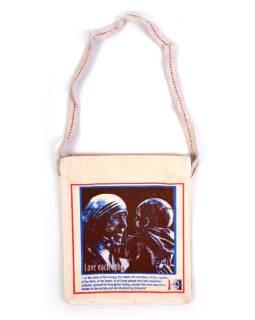 Taška - bavlna, střední, Matka Tereza