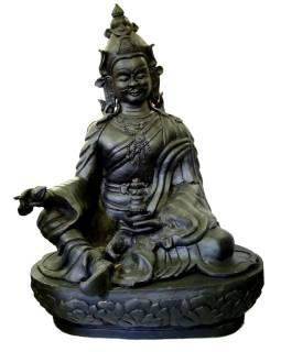Socha Padmasambhava sedící, keramika, cca 110cm,