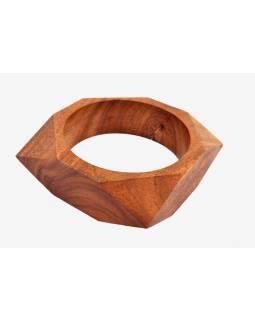 Náramek - dřevo, hexagram