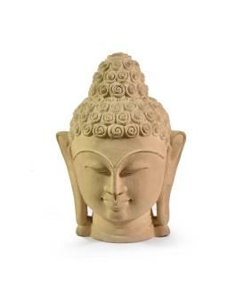 Kamenná soška, Buddha head, 25-27cm